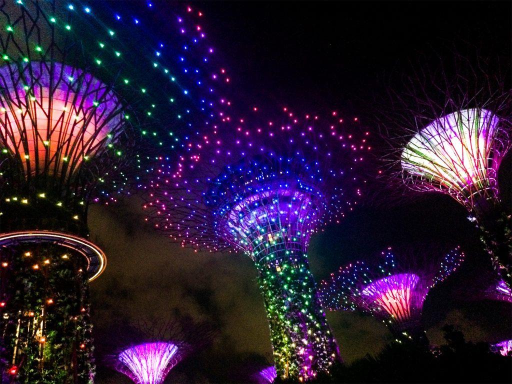 Superber bei Nacht in Singapur