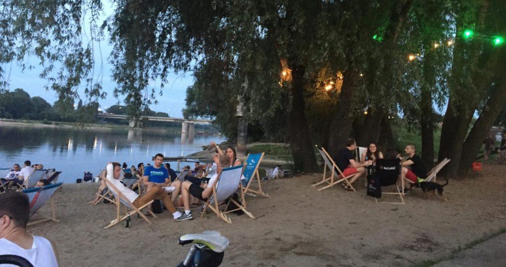Strandbar an der Warschauer Weichsel