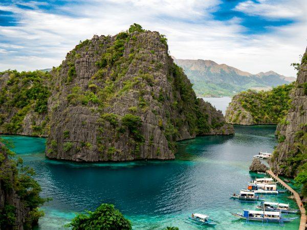 Der Weg zum Kayangan Lake bei Coron