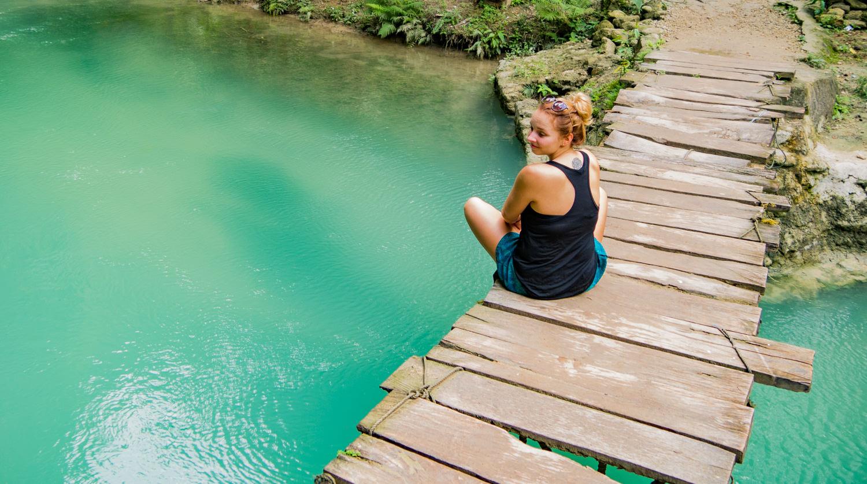 Fluss der Kawasan Falls, Cebu, Philippinen