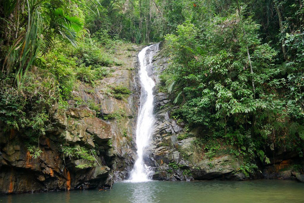 Der Pamuayan Wasserfall