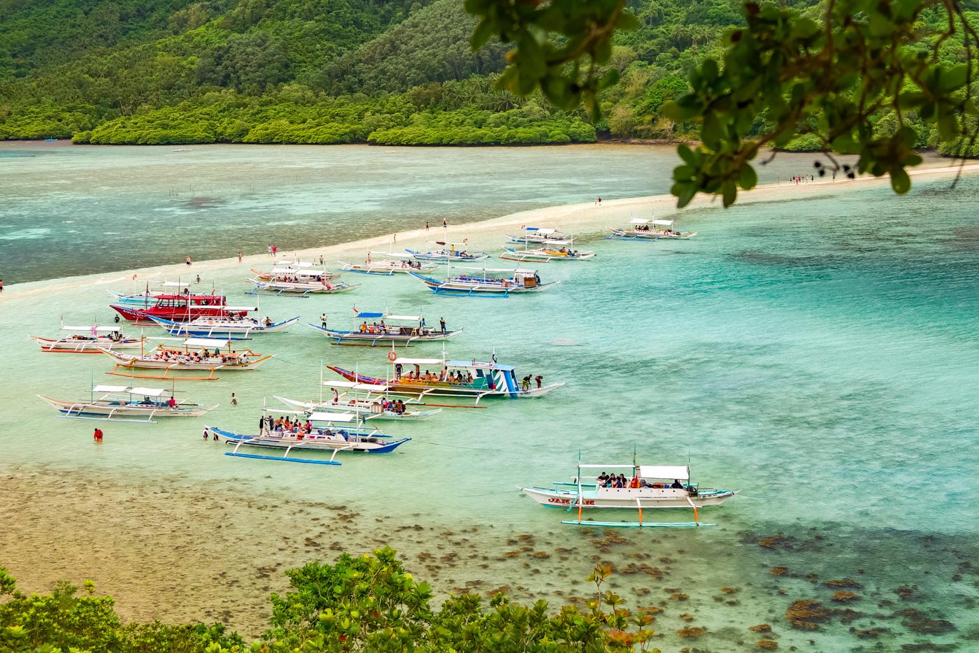 Snake Island der Islandhopping Tour B - El Nido, Philippinen