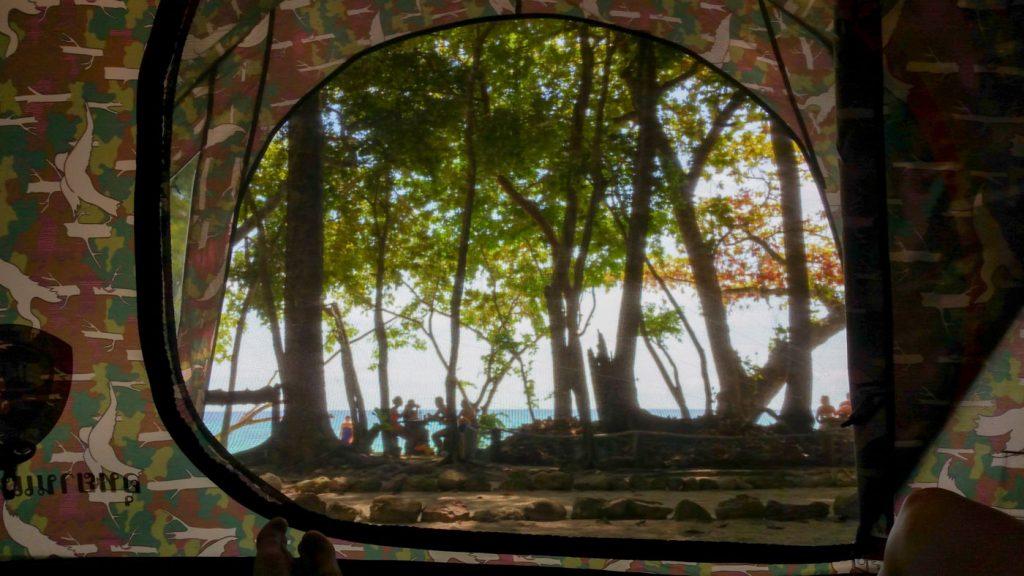 Blick aus unserem Zelt auf Koh Rok