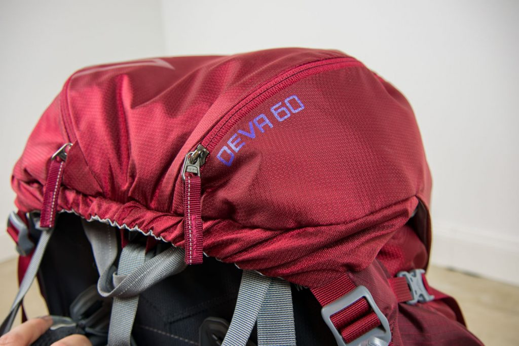 Der Backpack Deva 60 von Gregory in rot