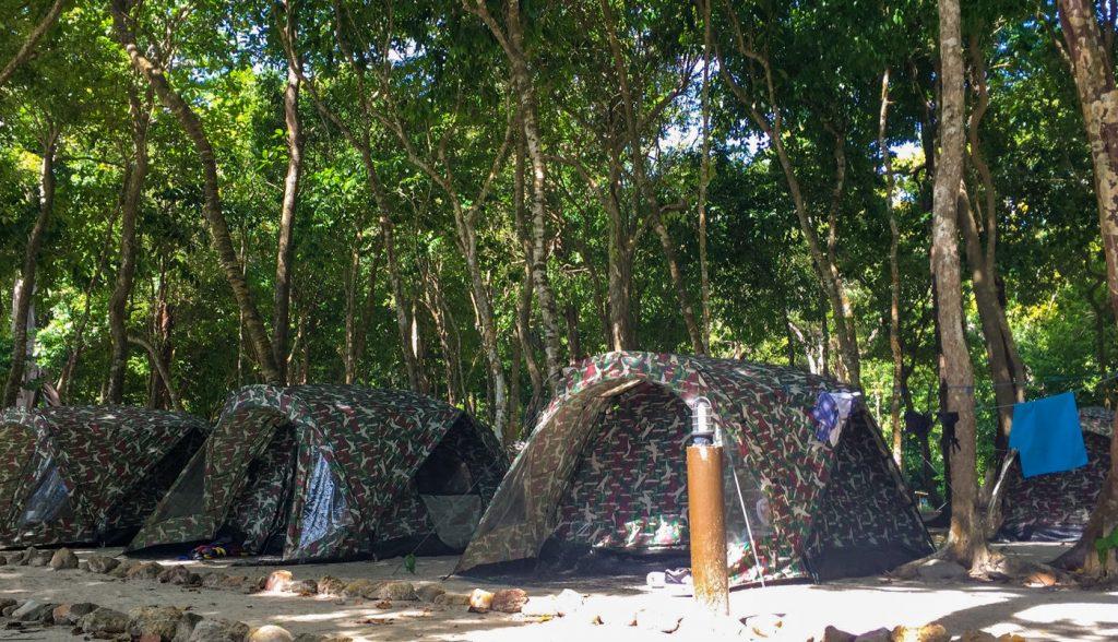 Campsite auf Koh Rok in Thailand