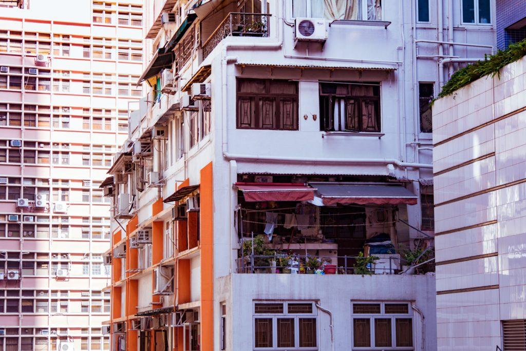 Wohnblocks Hongkong Island