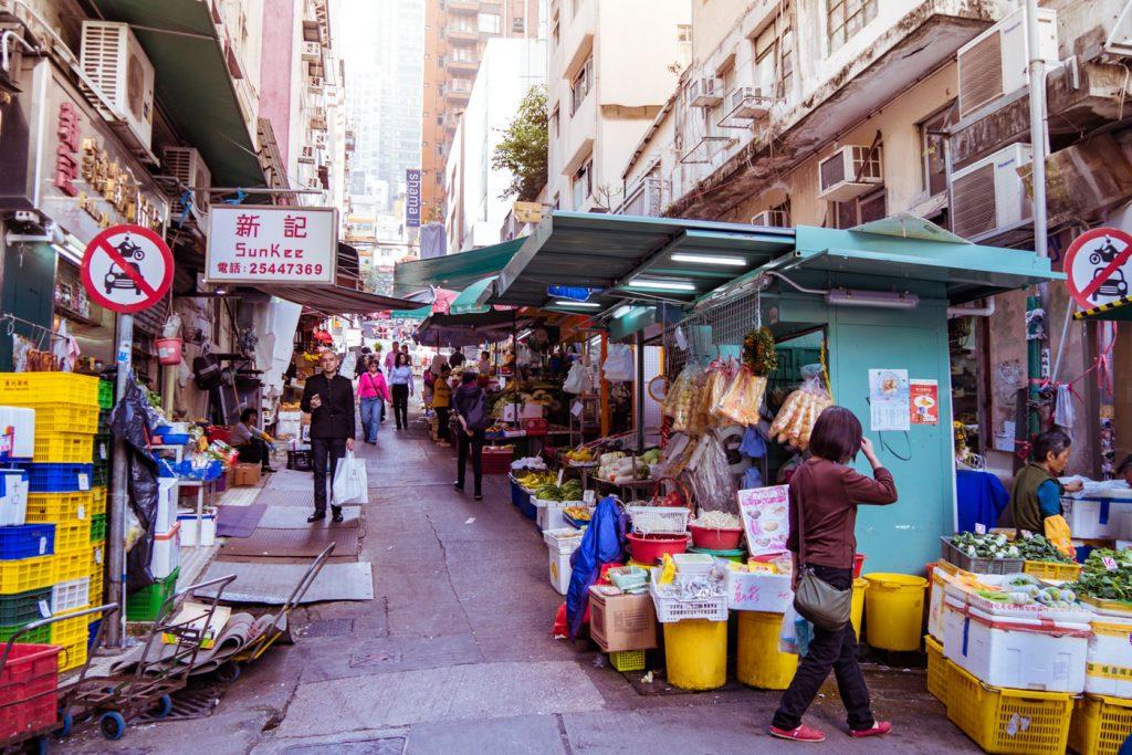 Straßenverkauf Hongkong Island