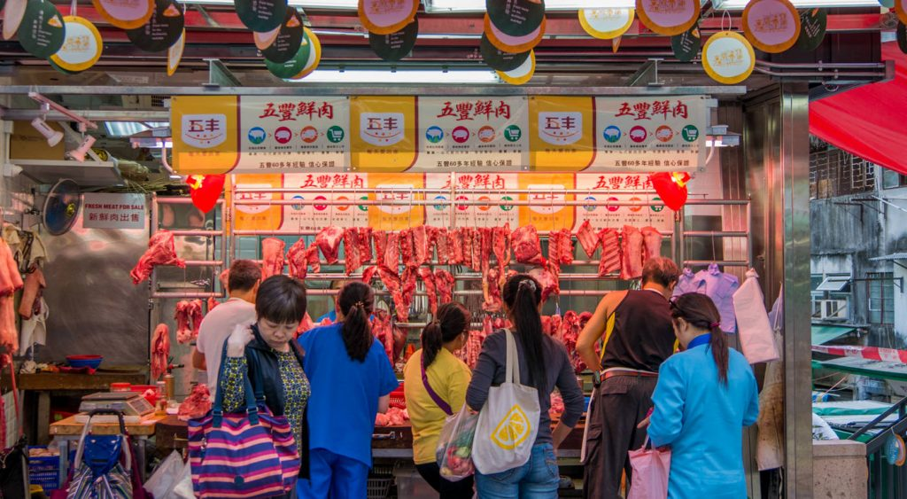 Fleischmarkt auf Hongkong Island
