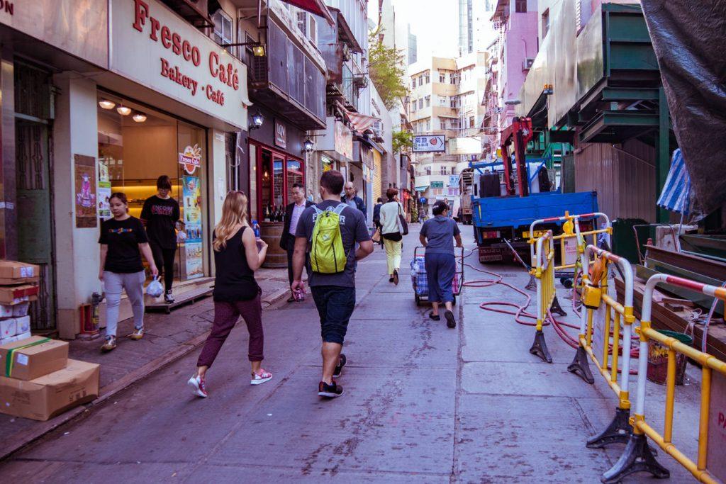 Strasse auf Hongkong Island
