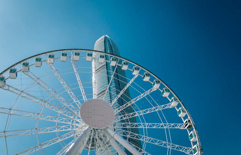 Observation Wheel auf Hongkong Island