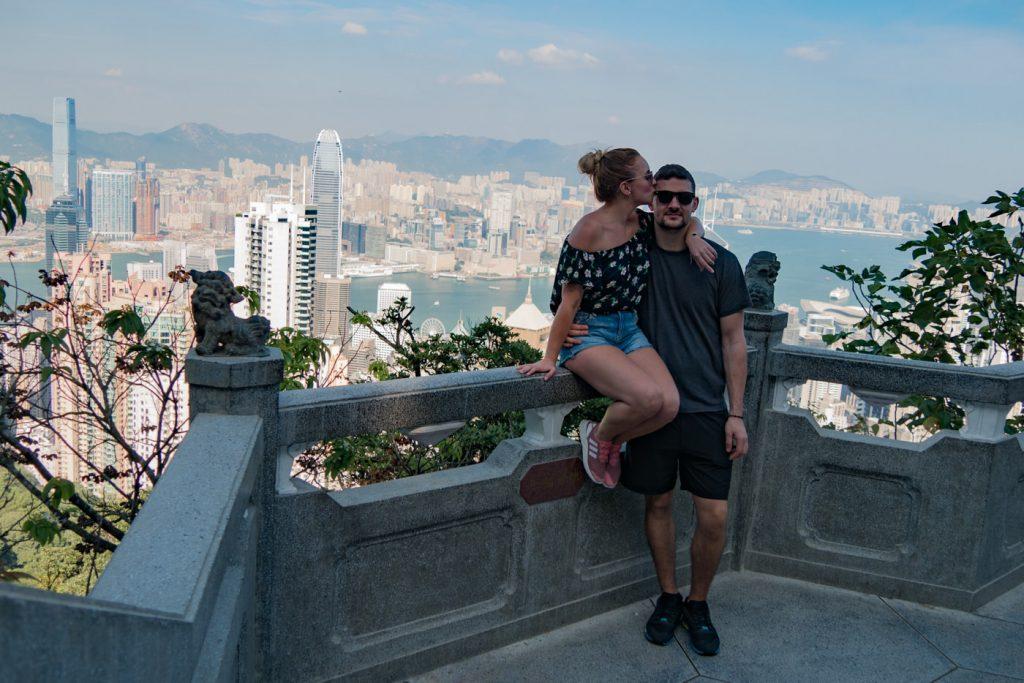 Wir am Victoria Peak auf Hongkong Island