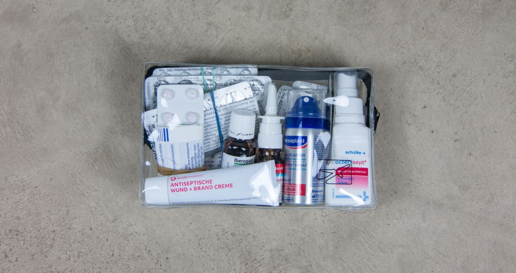 Unsere Medikamente in der transparenten Tasche