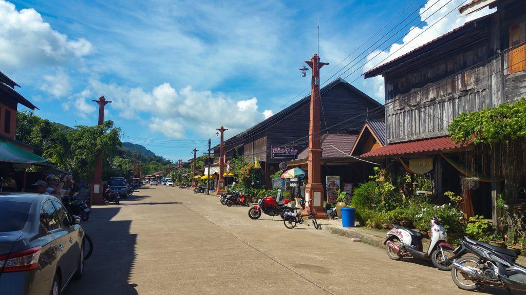 Straße in Old Town von Koh Lanta
