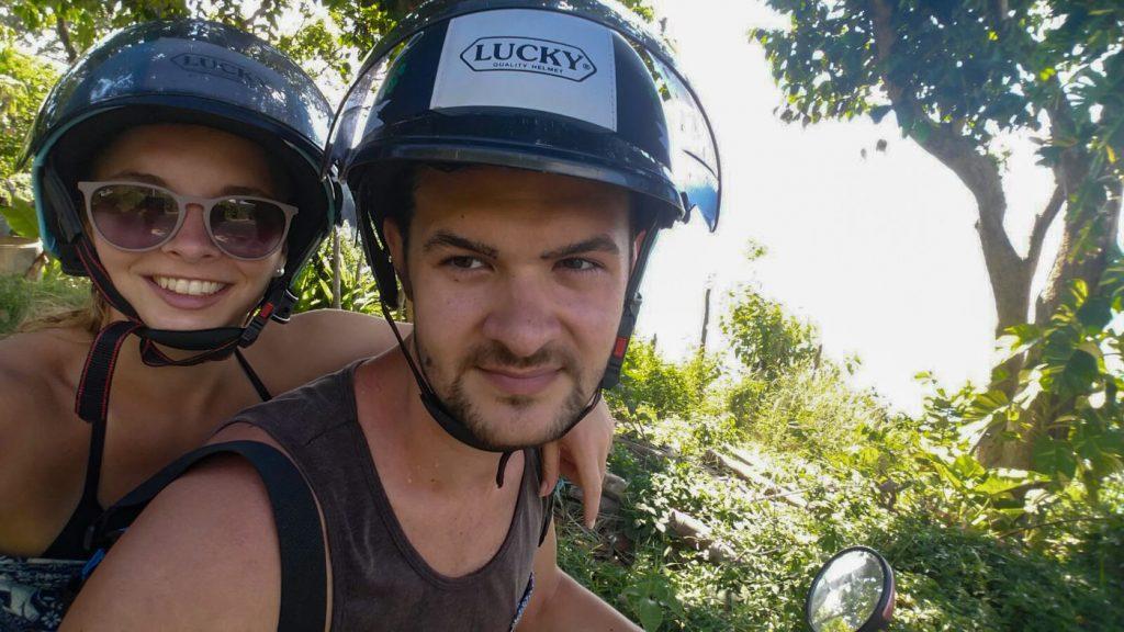 Wir auf dem Roller auf Koh Lanta
