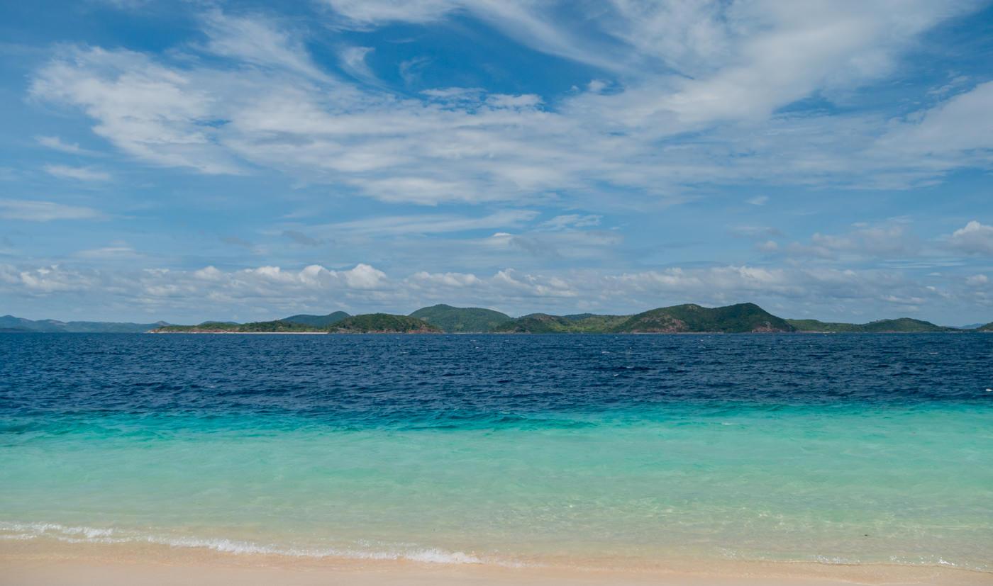 Meer von Banana Island auf den Philippinen