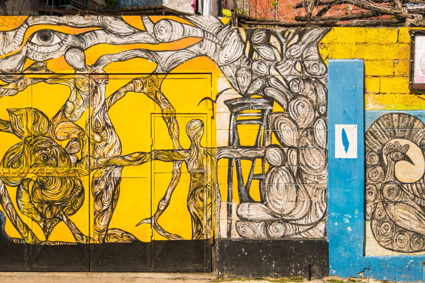 Ein Mural im Callejon de Hamel