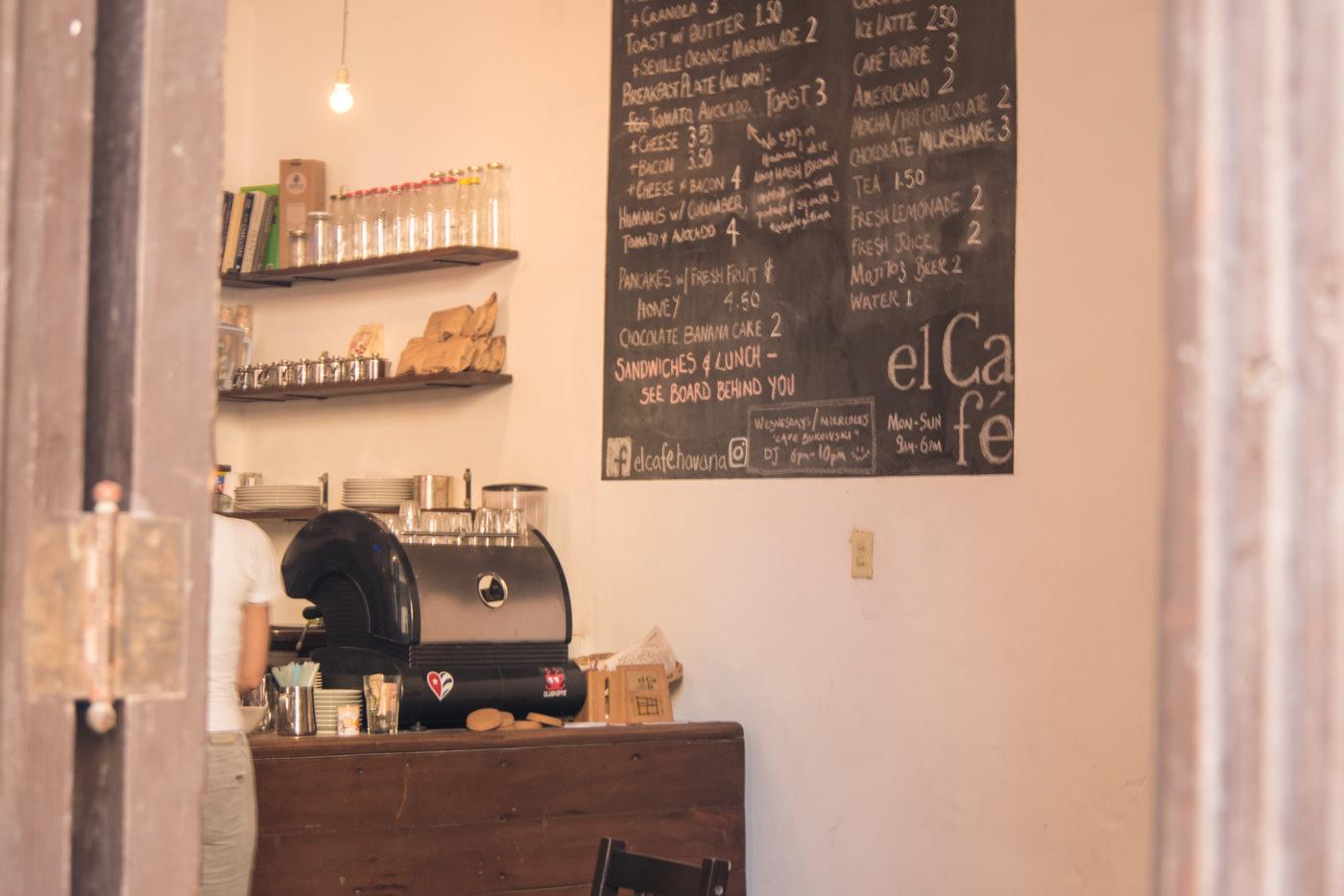 Das El Cafe im Herzen von Havannas Altstadt