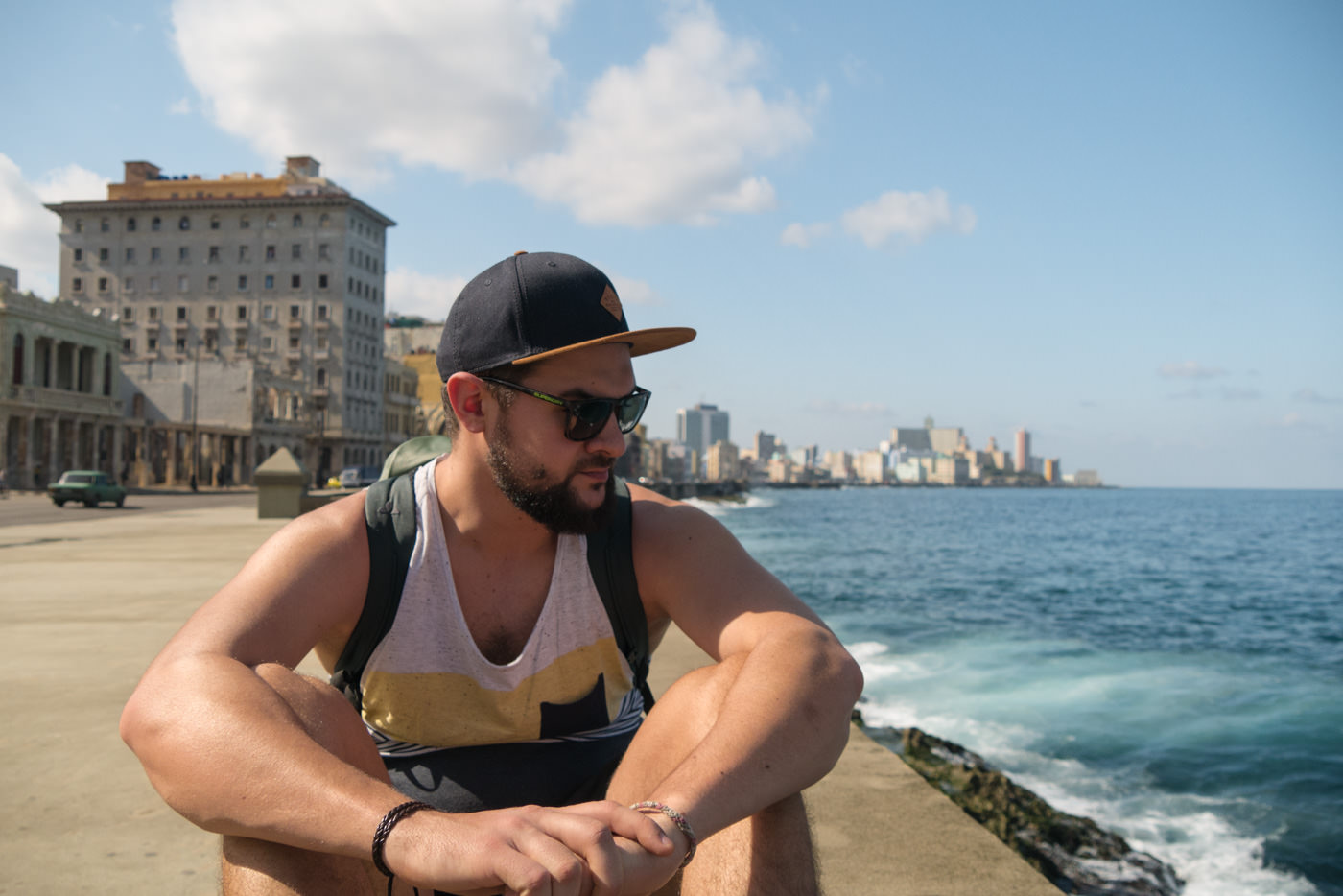 Matthias am Malecon in Havanna