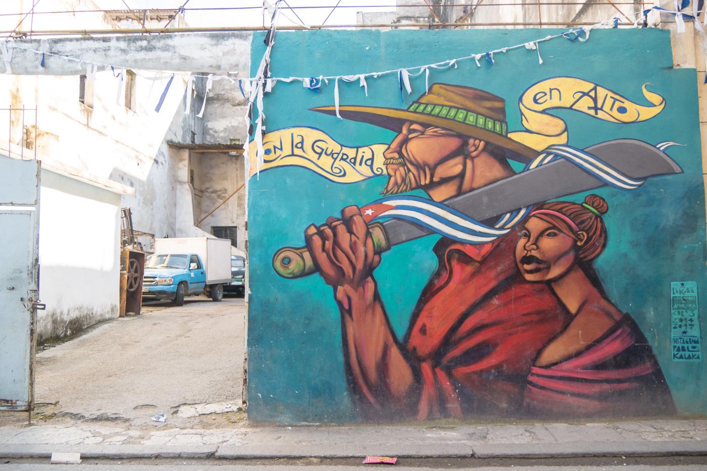 Ein Mural in Havanna