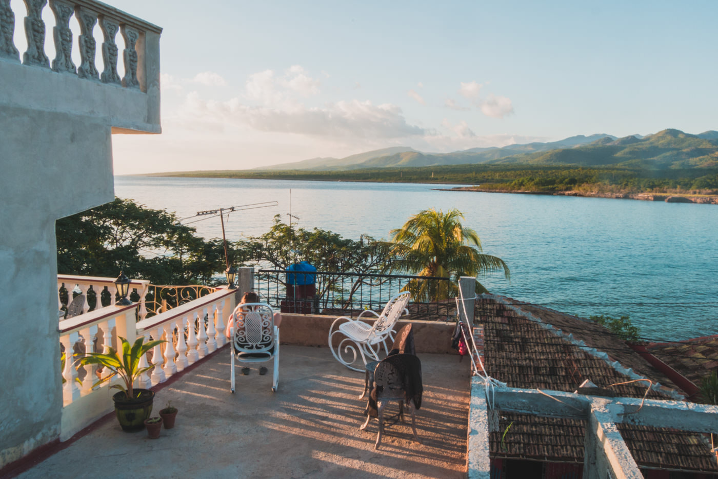 Die Dachterasse unserer Unterkunft in La Boca, Kuba