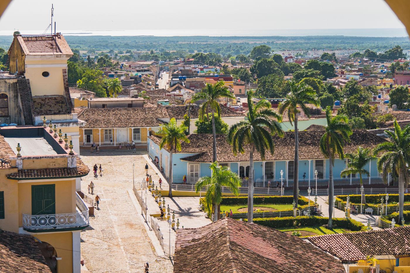 Der Plaza Mayor in Trinidad von oben