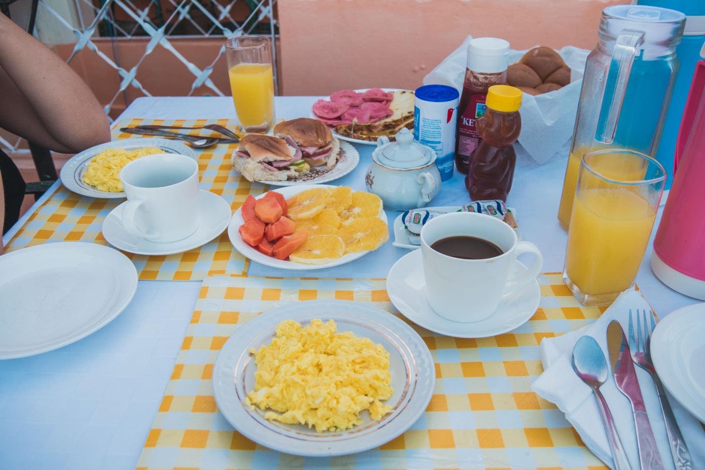 Unser Frühstück in der Casa in Trinidad