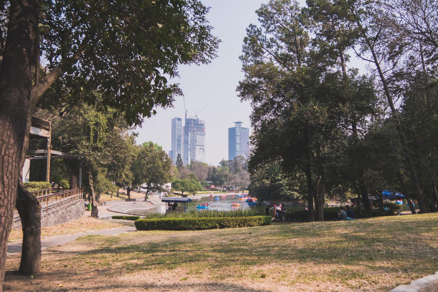 Der Chapultepec Park in Mexiko-Stadt