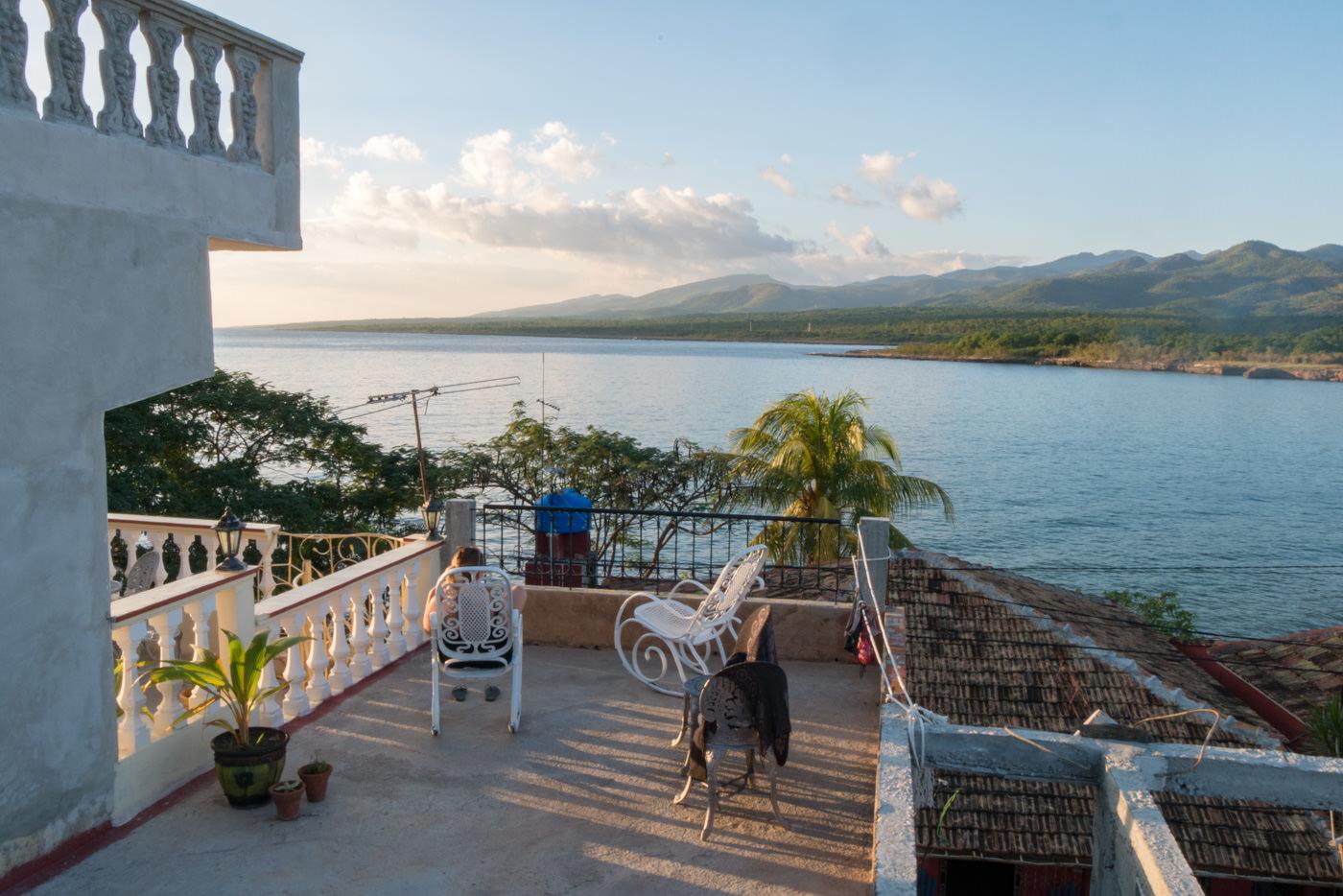 Unsere Dachterasse in La Boca, Kuba