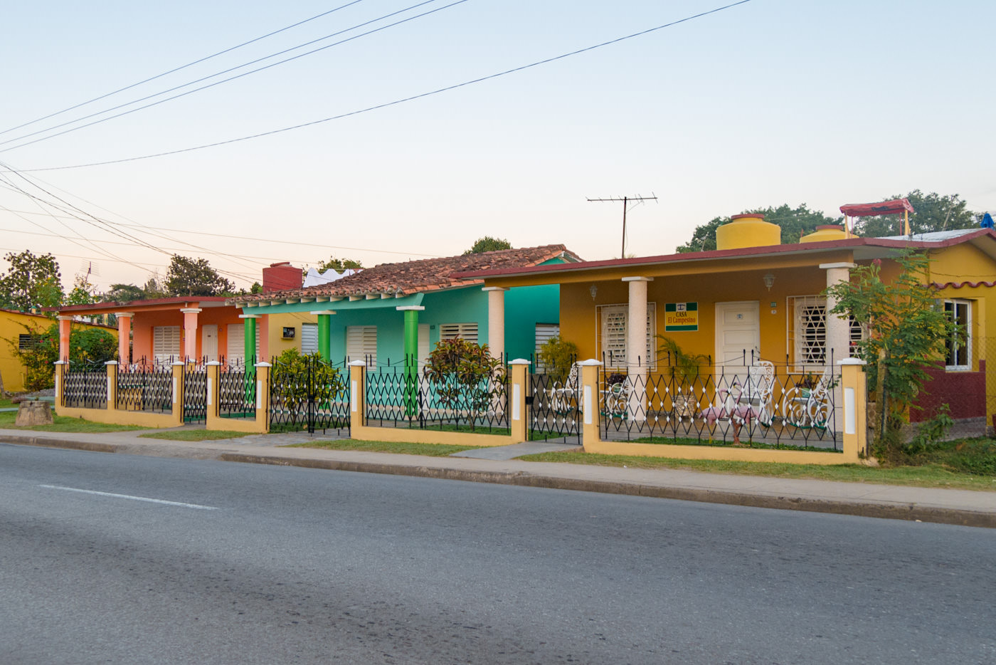 Bunte Casa's in Vinales