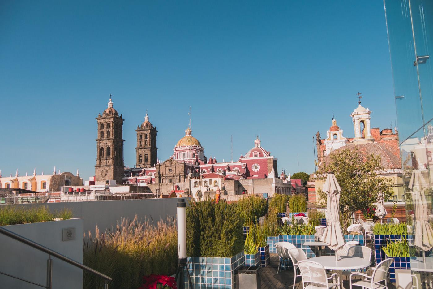 Dachterrasse des Museo Amparo in Puebla