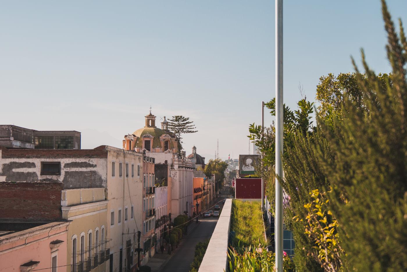 Gasse von Puebla in Mexiko