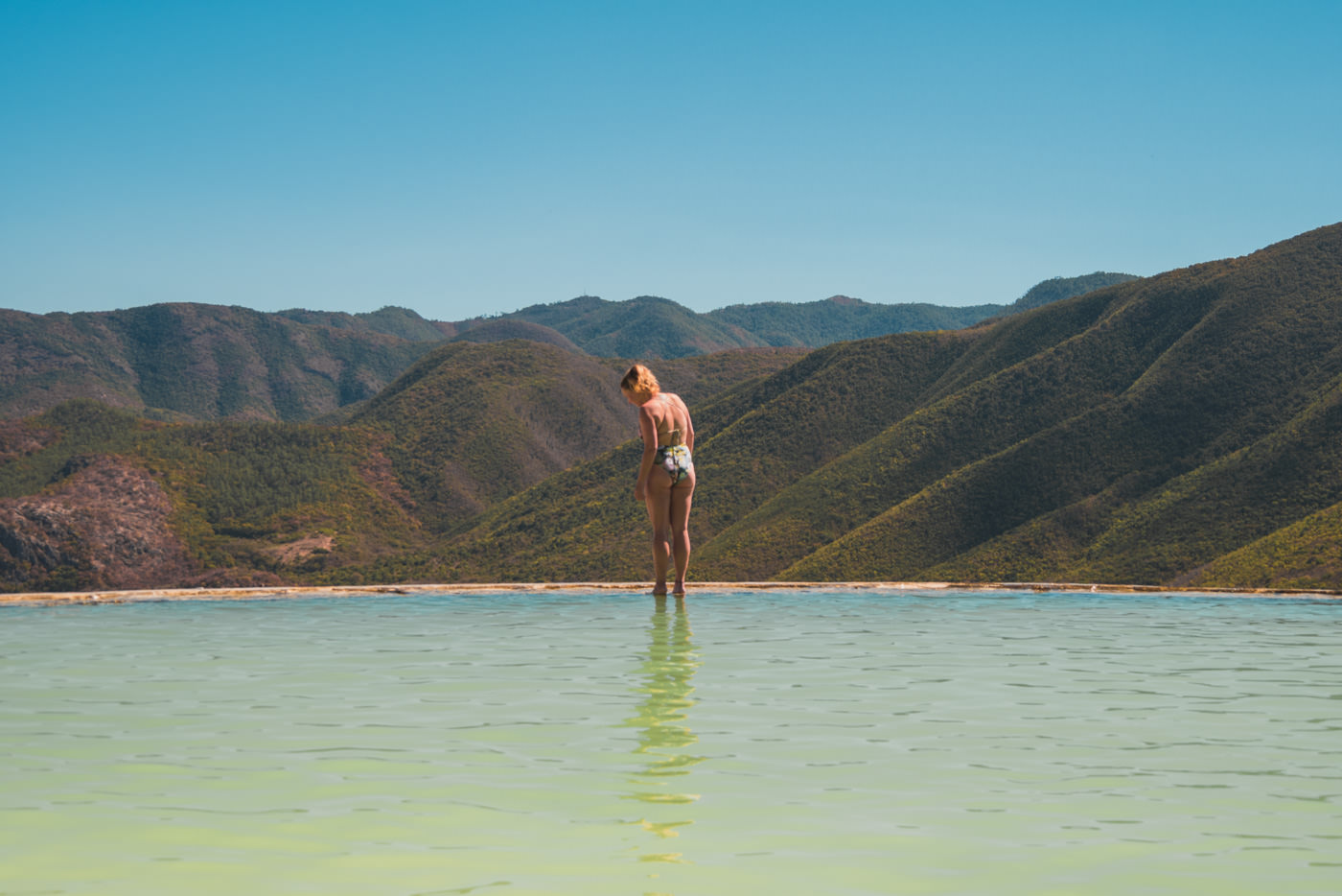 Das natürliche Becken des Hierve el Agua - Oaxaca, Mexiko