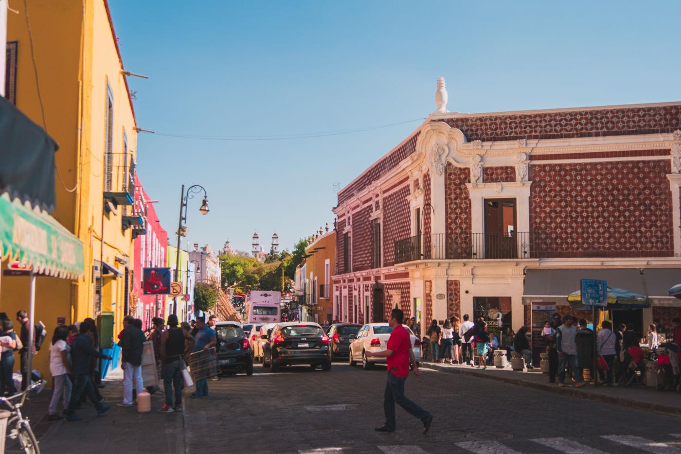 Innenstadt von Puebla in Mexiko