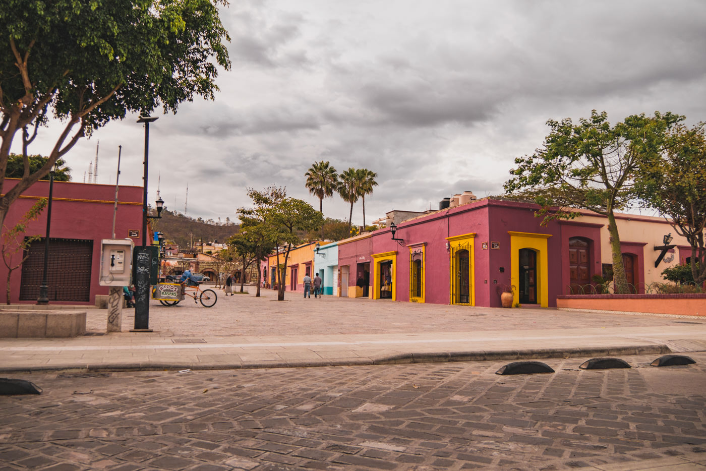 Die bunten Fassaden in Oaxaca, Mexico
