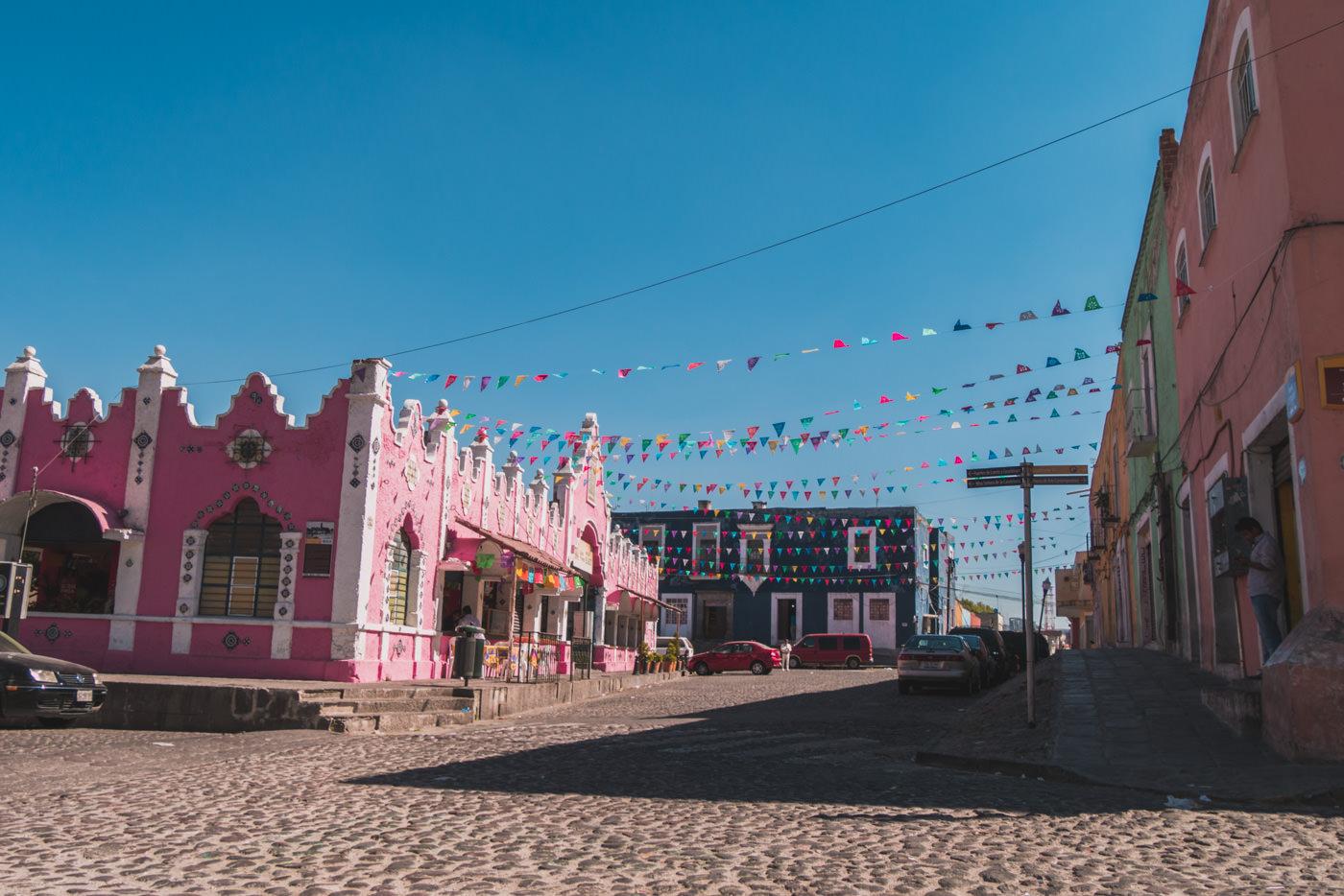 Pinkes Haus in Puebla