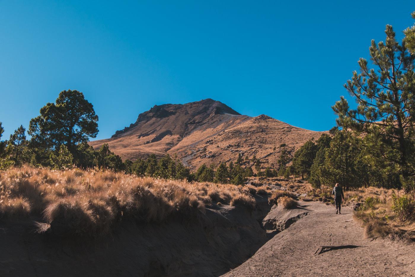Blick auf den Vulkan La Malinche in Puebla