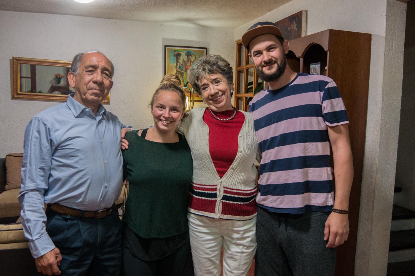 Unsere Gastfamilie während unserer 2 Wöchigen Schulzeit.