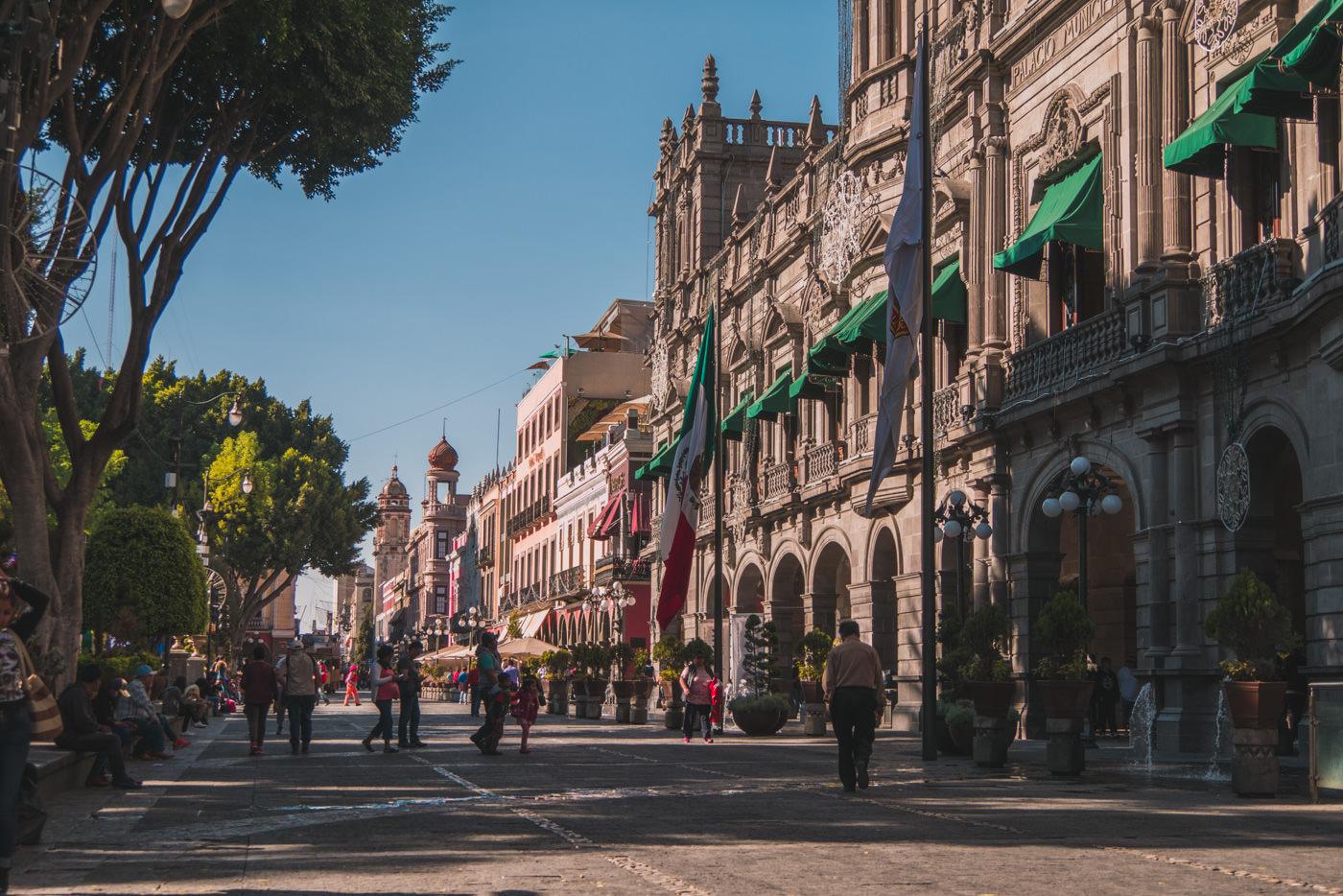 Der Zocalo von Puebla in Mexiko