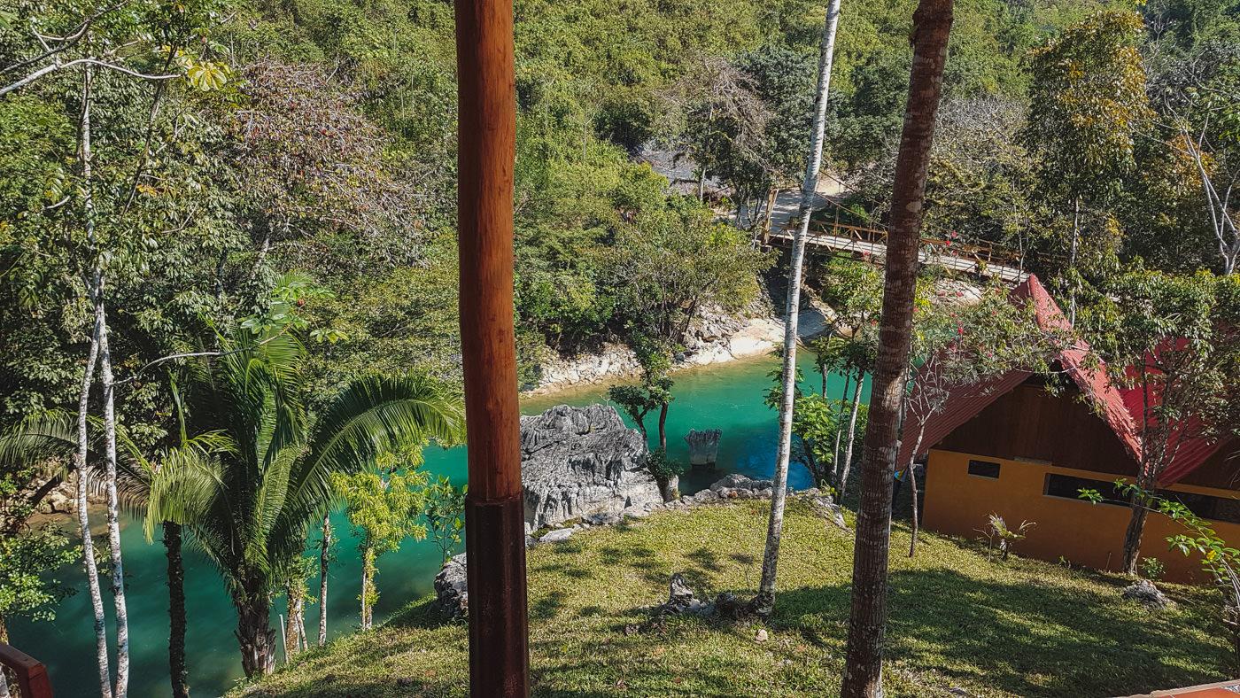 Ausblick vom Hostel El Portal in Semuc Champey