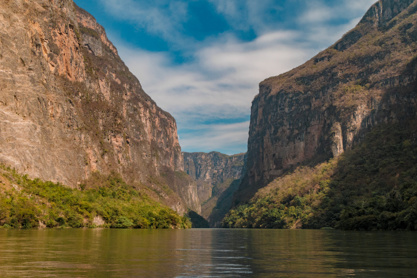 Canyon del Sumidero in Chiapas in Mexiko