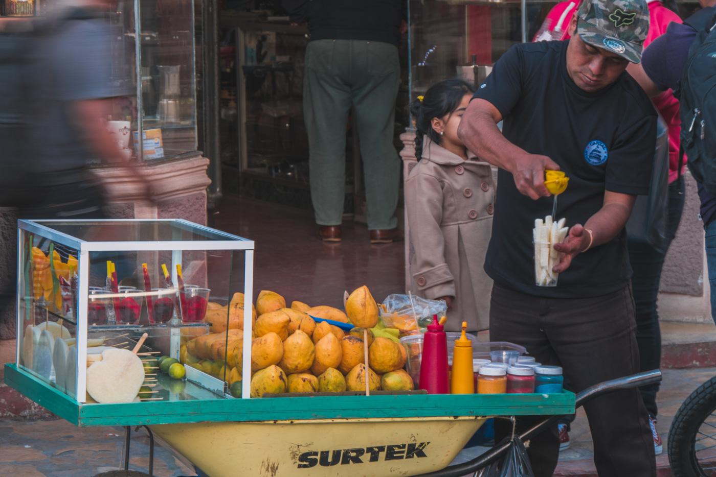 Frischer Orangensaft in San Cristobal de las Casas in Chiapas