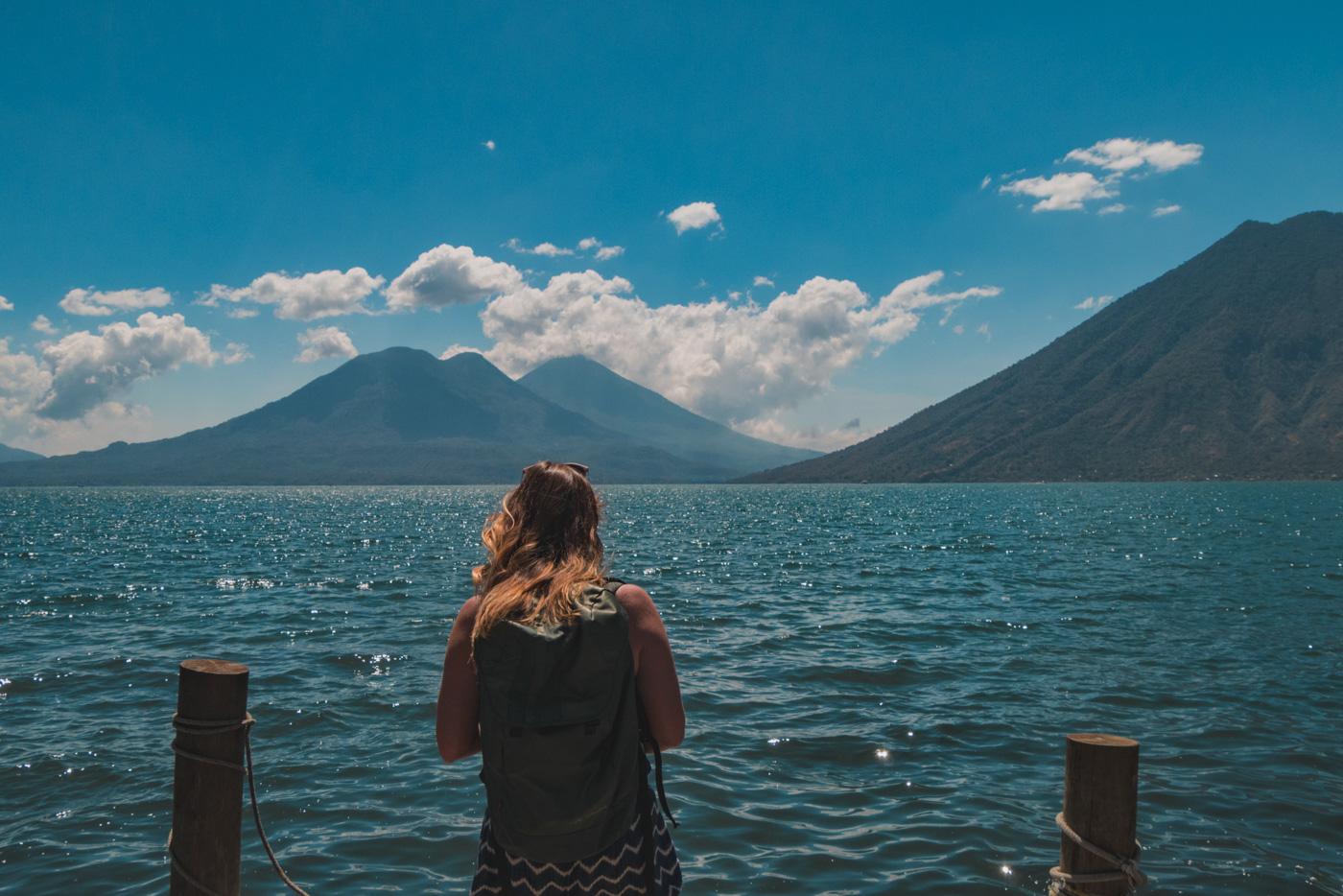 Drei Vulkane des See Atitlán