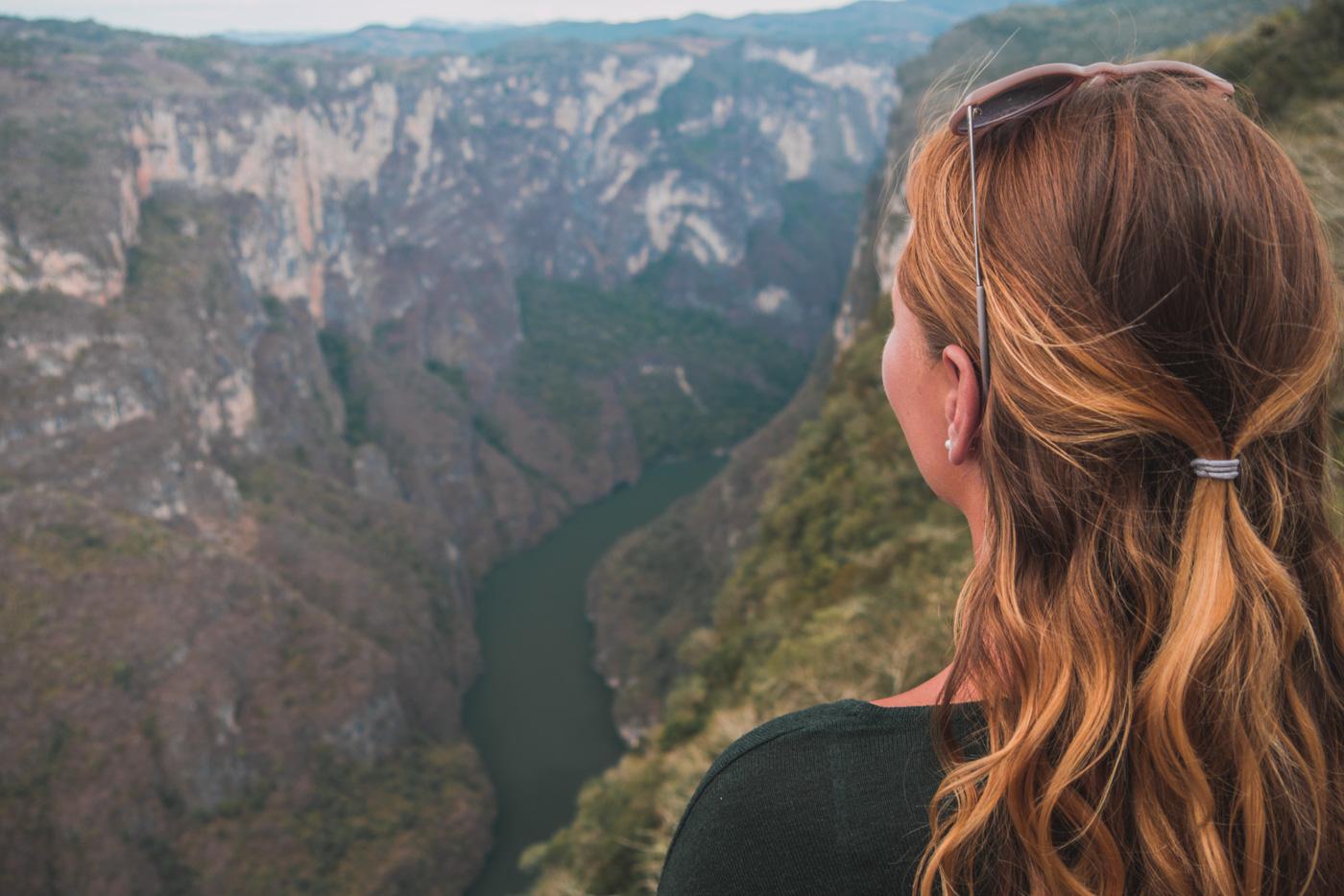 Julia und der Canyon del Sumidero in Chiapas