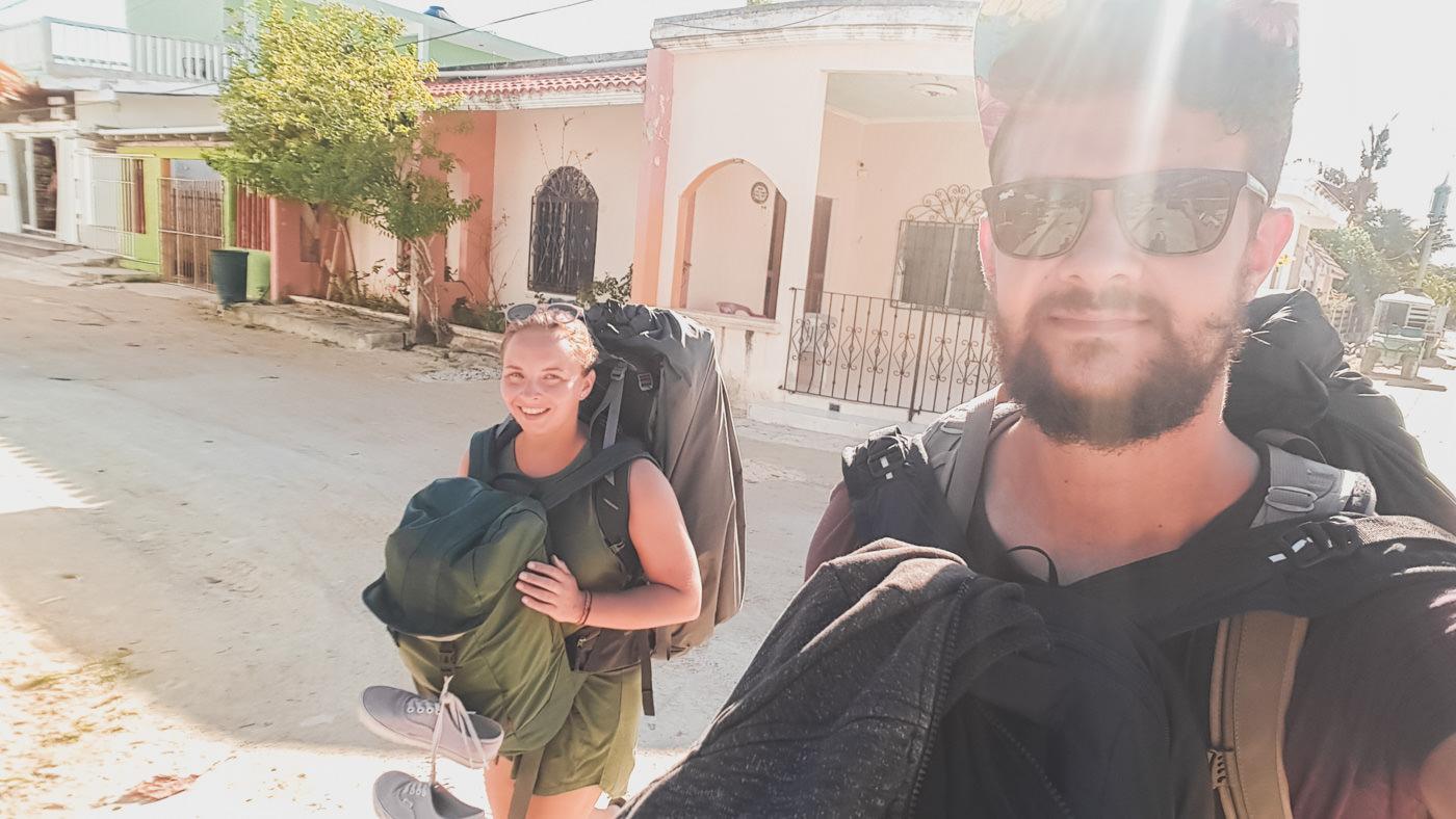 Wir auf dem Weg zur Fähre auf Isla Holbox