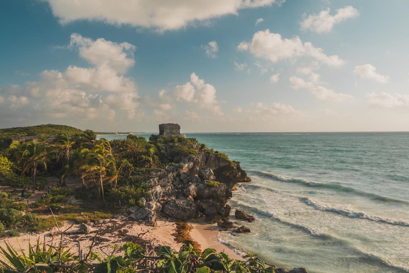 Maya Ruinen in Tulum in Mexiko