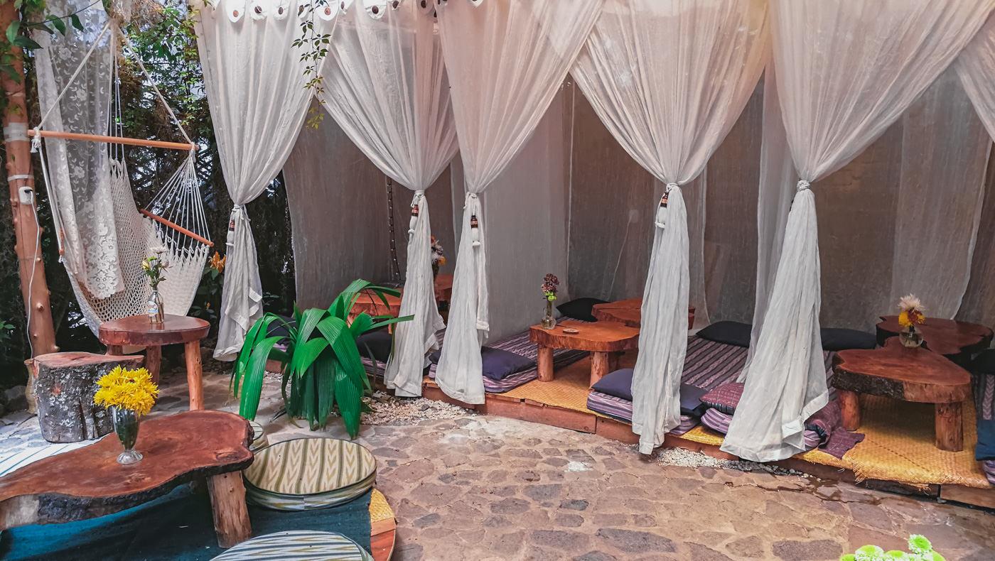 Shambhala Café in San Marcos am See Atitlán