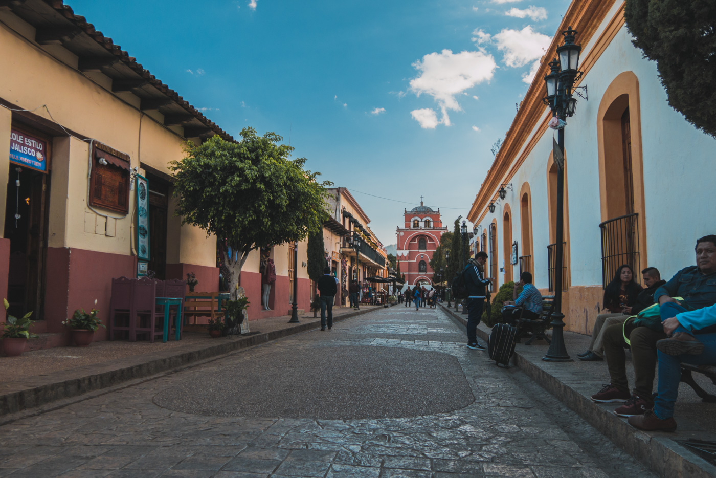 Miguel Hidalgo Straße in San Cristobal