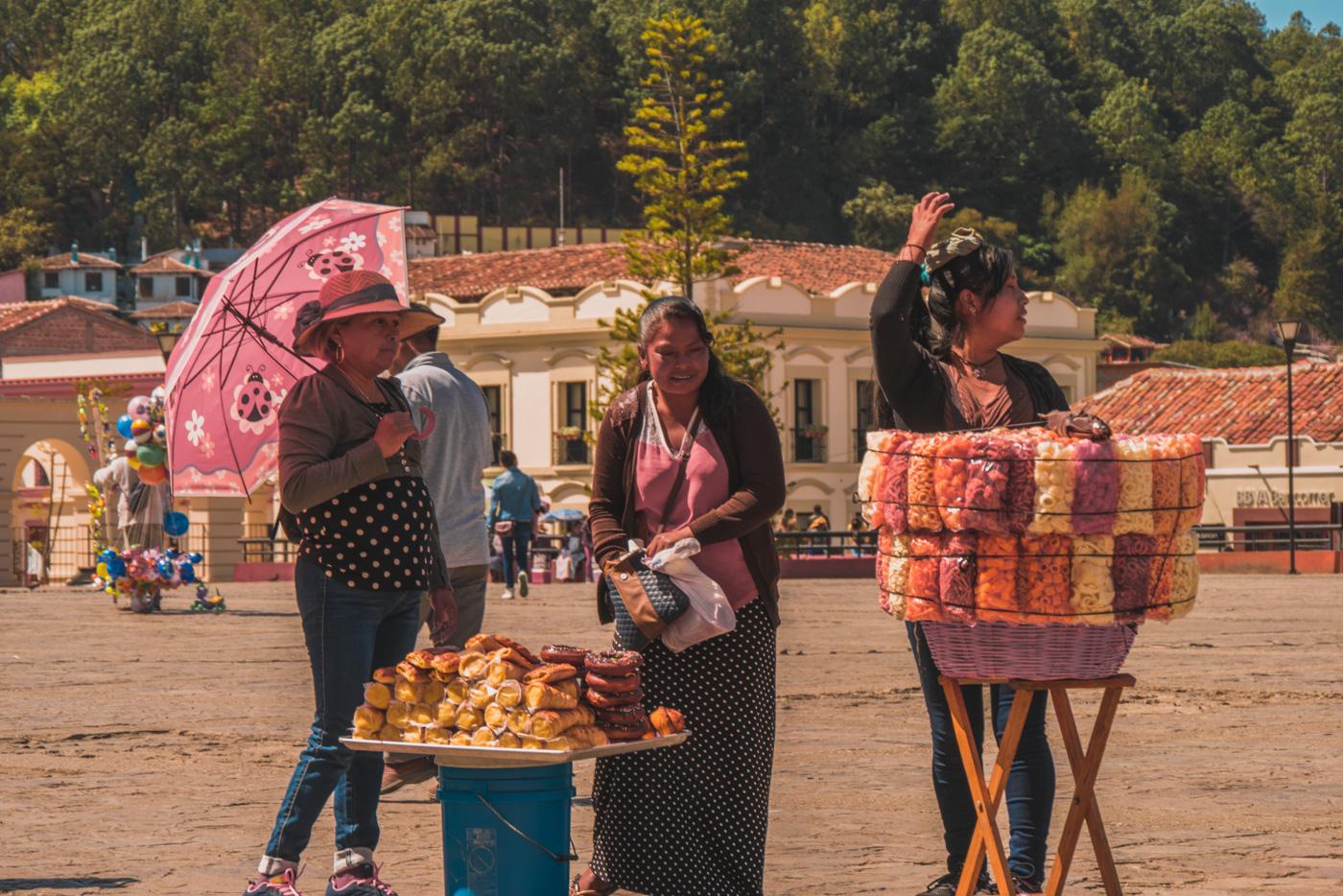 Straßenverkäufer in San Cristobal de las Casas
