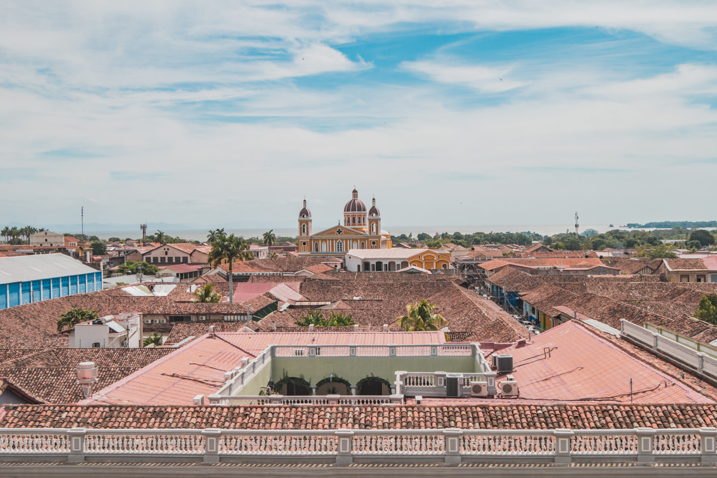 Ausblick über Granada, Nicaragua