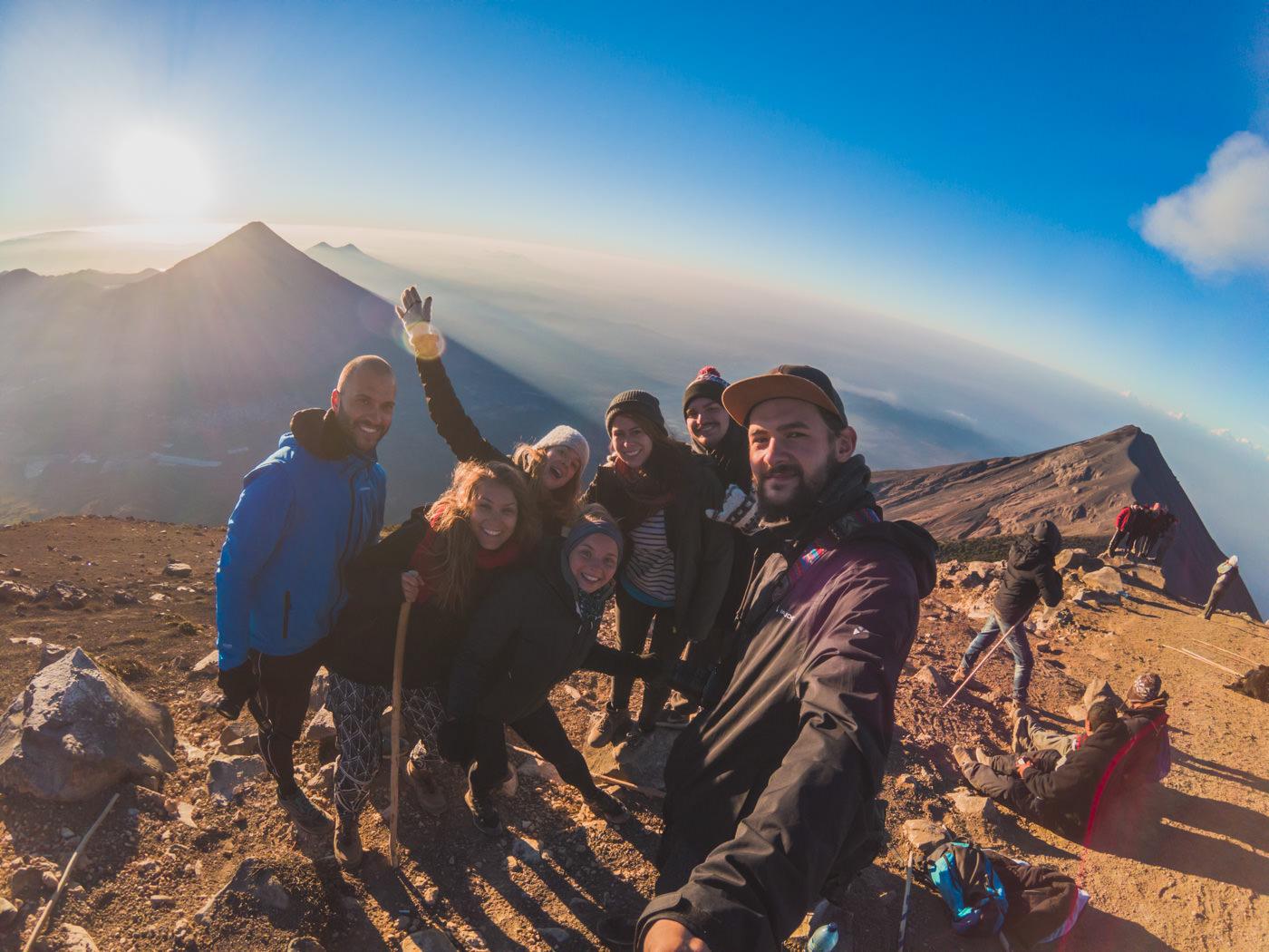 Unsere Gruppe des Trips zum Vulkan Acatenango